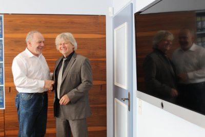 Martin Grath und Bürgermeister Norbert Bereska