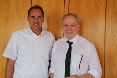Oberbürgermeister Gerrit Elser und MdL Martin Grath