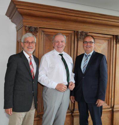 Landrat Klaus Pavel, MdL Martin Grath, Bürgermeister Volker Grab