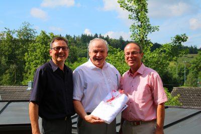 (v.l.n.r) Thomas Diem, MdL Martin Grath, Bürgermeister Dr. Bernd Sipple
