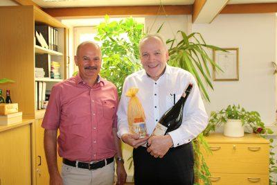 Bürgermeister Alfons Jakl und Martin Grath