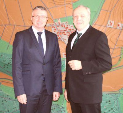Wollen am Albuch noch einiges bewegen: Steinheims Bürgermeister Olaf Bernauer (li.) und MdL Martin Grath.